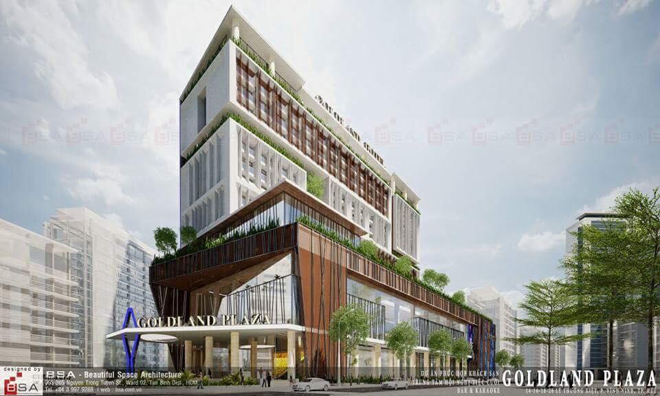 Dự án cung cấp giàn giáo nêm khách sạn goldland plaza